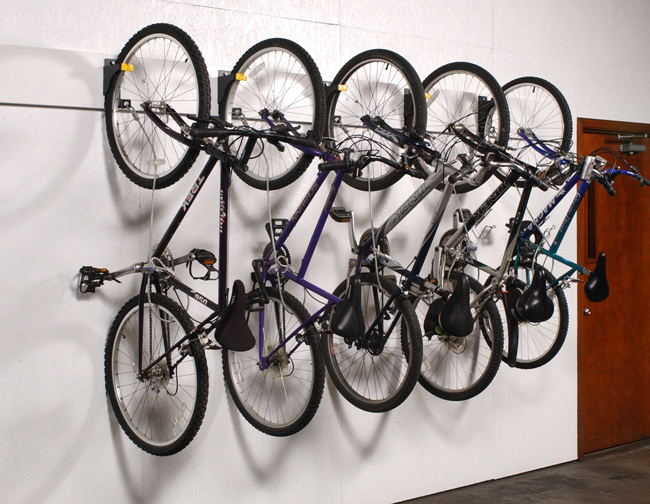 Bicycle Wall Rider Storage Hangers Giant Industrial Installations