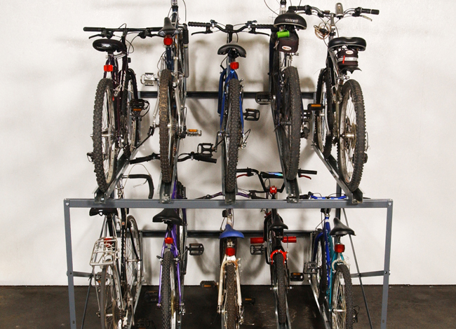 Bike Stacker double high bicycle storage rack