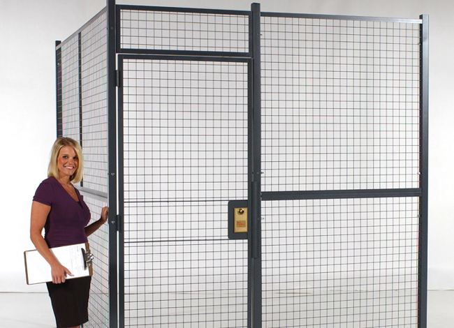 Wire Partition Storage Cage