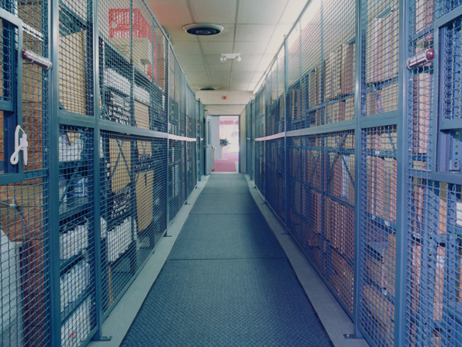 Evidence Enclosures and Secure Storage Cages are ideal for securing and storing items in plain sight, while keeping them secure and only accessable by authorized personnel. Service windows can be added to Evidence Enlcosures and secured storage areas for controlled distribution of stored items.