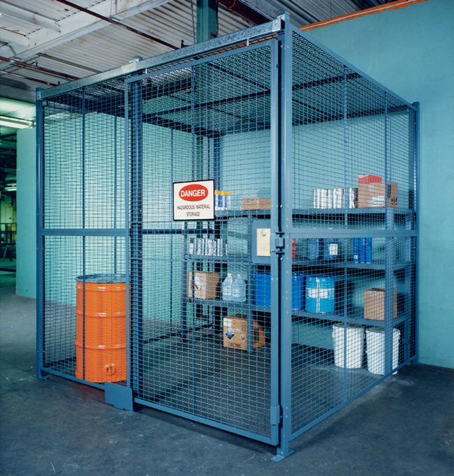 Secured Tool and Storage Enclosures are the perfect solution for controlling access to equipment and increasing accountability, all while keeping the contents of the cage in plain site.
